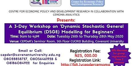 Dynamic Stochastic General Equilibrium (DSGE) Modelling for Beginners tickets