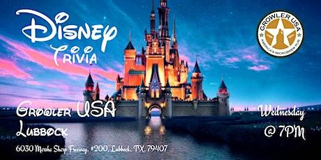 Disney Movie Trivia at Growler USA Lubbock tickets