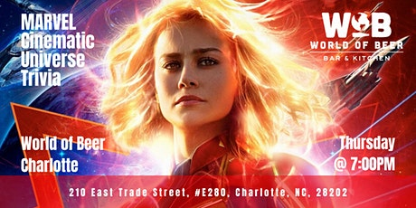 Marvel Cinematic Universe Trivia at World of Beer Charlotte tickets