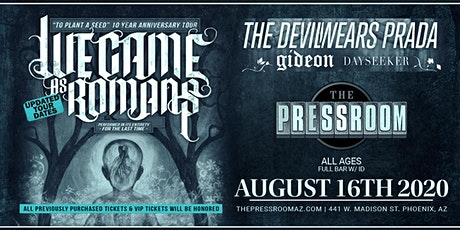 We Came As Romans, The Devil Wears Prada, Gideon, Dayseeker @ The Pressroom tickets