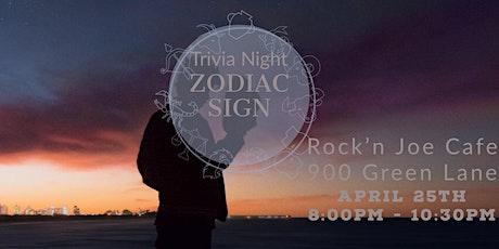Zodiac Trivia Night tickets