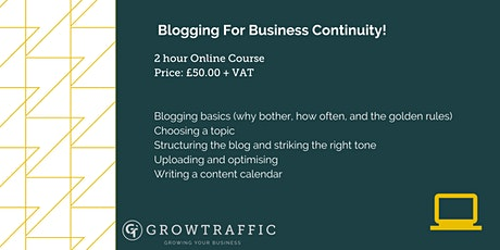Blogging For Beginners tickets