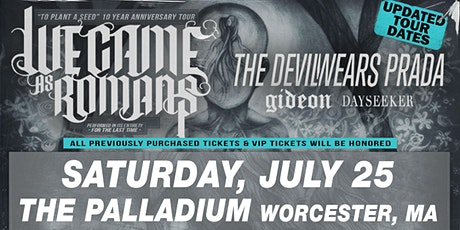 WE CAME AS ROMANS - TO PLANT A SEED 10 YEAR ANNIVERSARY TOUR tickets