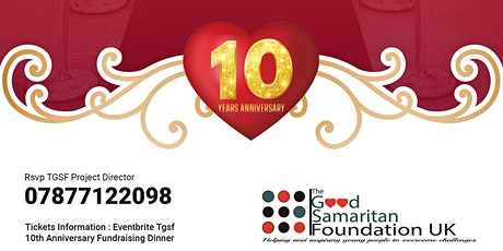 TGSF 10th Anniversary Fundraising Dinner 2020  tickets