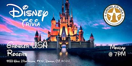 Disney Movie Trivia at Growler USA Rogers tickets