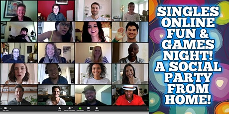 Boston Singles Online Fun & Games Event - A Social Party From Home! tickets