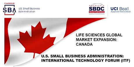 U.S. SBA International Technology Forum: Canada tickets
