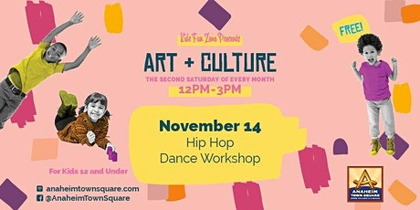 Free Kids Fun Zone Hip Hop Dance Workshop at Anaheim Town Square tickets