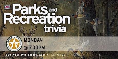 Parks & Rec Trivia at Growler USA Austin tickets