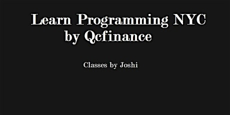 Python for Finance 101 Class (6+6 hours $325)NYC- Online Event tickets