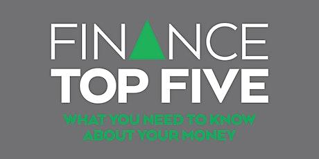 Finance Top Five (Webinar) tickets