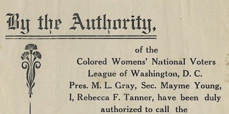 """'The Work Must Be Done': Women of Color & The Right to Vote"" by the Connecticut Historical Society tickets"