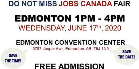Edmonton Job Fair - June 17th, 2020 tickets