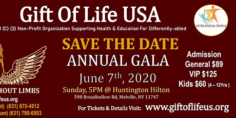 Gift Of Life USA Annual Special Needs Gala tickets