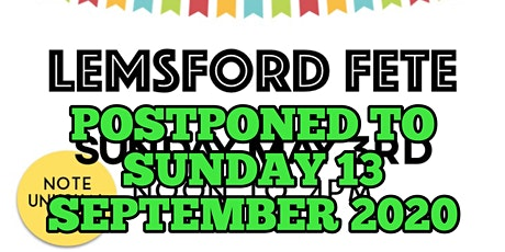 Lemsford Fete 2020 tickets