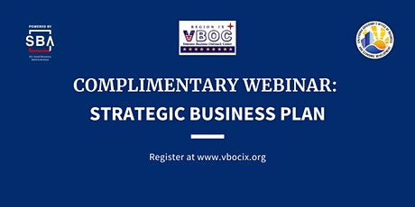 Strategic Business Plan Live Webinar tickets
