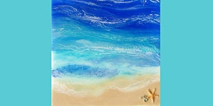Ocean Resin Painting on Canvas