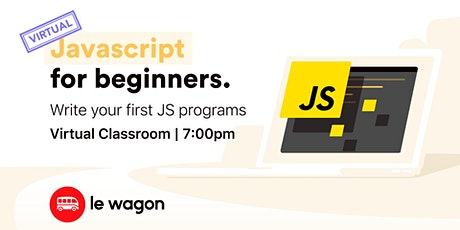 [virtual classroom] Javascript for Beginners bilhetes