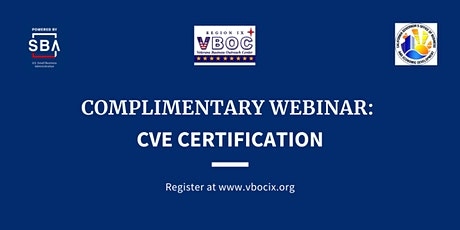 CVE Certification Live Webinar tickets