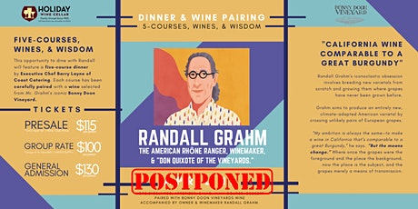Five-Course Winemaker Dinner with Randall Grahm: The American Rhône Ranger tickets