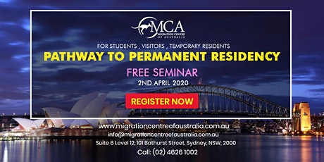 [Free Seminar] Migrate to Australia - Options To Consider For Your PR tickets
