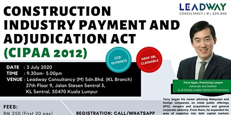 (KL) Payment Collection Training: CIPAA ACT 2012 tickets