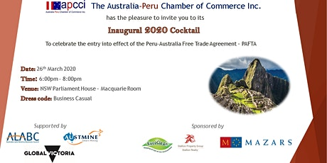 APCCI 2020 Inaugural Cocktail tickets