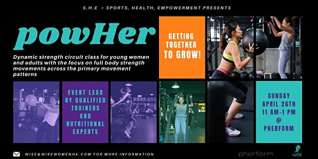WISE S.H.E -- Sports, Health, Empowerment presents powHer by pherform tickets