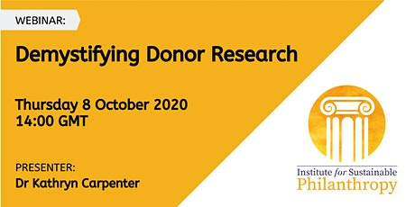 Webinar - Demystifying Donor Research tickets