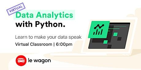 [virtual classroom] Data Analytics with Python bilhetes