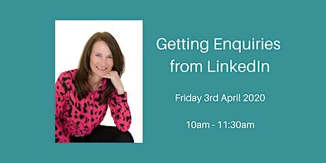 Getting Enquiries from LinkedIn - Online Workshop tickets