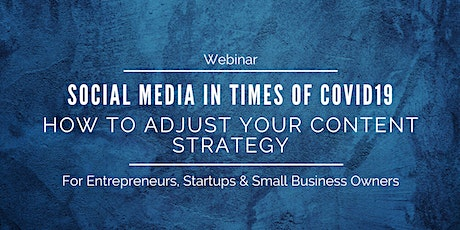 Social Media For Businesses During Covid19 tickets
