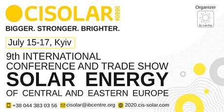 CISOLAR 2020, 9th Solar Energy Conference tickets