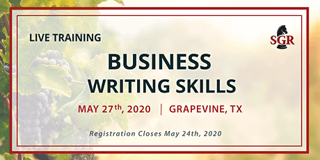 Business Writing Skills - Live Training - Grapevine, TX - Tentative Date tickets