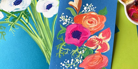 Drink & Draw - Say it with Flowers! tickets
