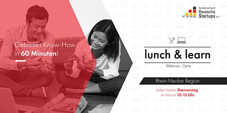 lunch & learn: Webinar für Startups Tickets