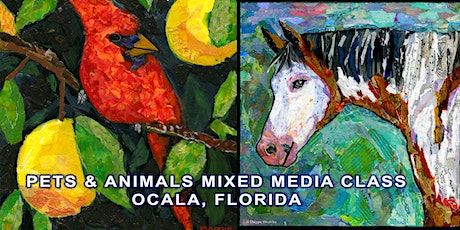 Pet and Animal Portrait Mixed Media Class tickets