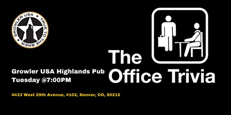 The Office Trivia at Growler USA Highlands Pub tickets