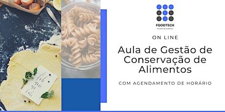Aula de Gestão de Conservação de Alimentos ingressos