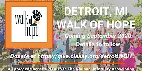 Detroit, MI Walk of Hope tickets