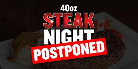 40oz Steak Night (Calgary - Harvest Hills) tickets