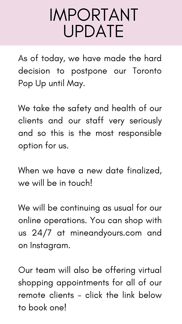 Mine & Yours Toronto Popup Opening Party image