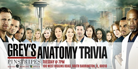 Grey's Anatomy Trivia at Pinstripes South Barrington tickets