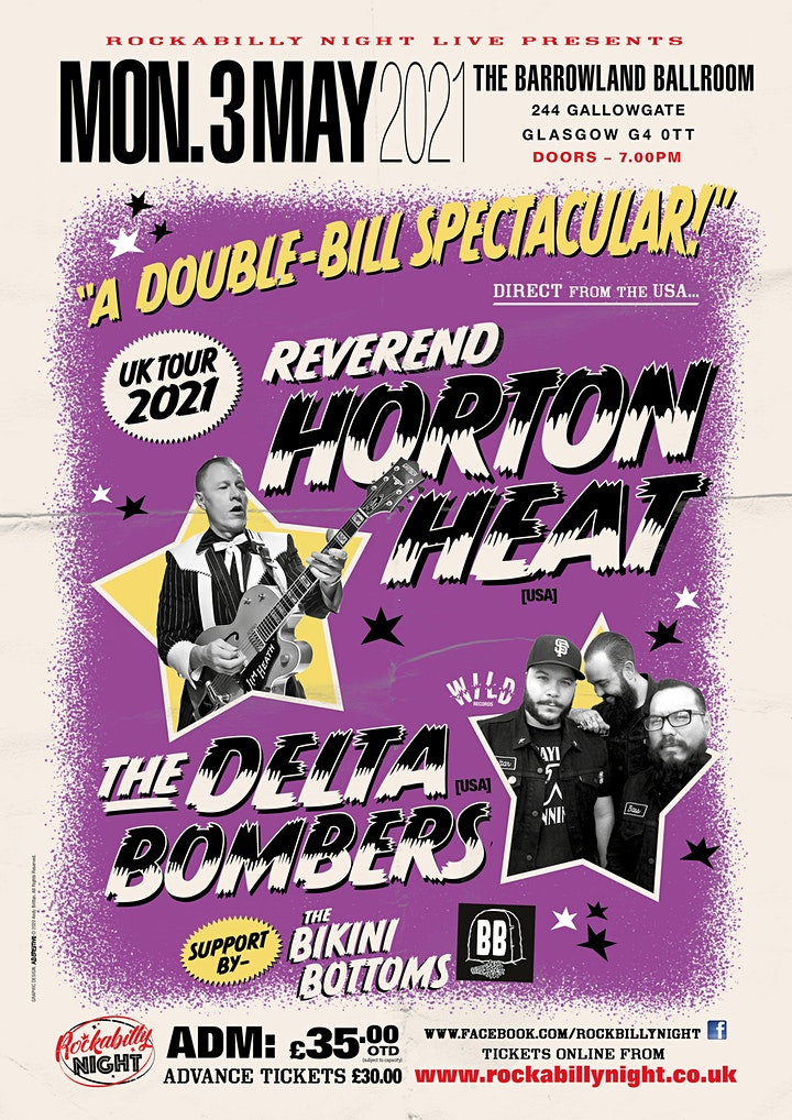 Reverend Horton Heat + Delta Bombers & Support from The Bikini Bottoms image