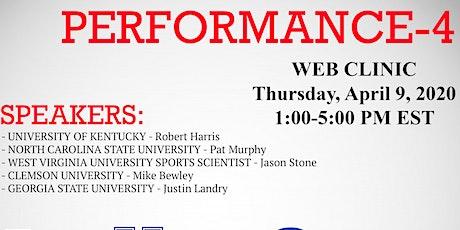 Performance 4 - Web Clinic tickets