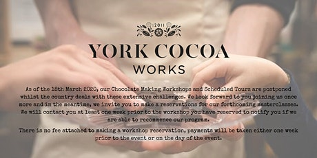 York Cocoa Works Chocolate Manufactory Guided Tour - May  tickets