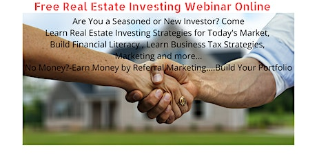 Free Real Estate Investing and Marketing Webinar Thursday-Online tickets