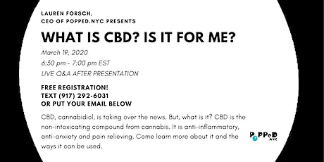 What is CBD? Is it for me? Virtual event tickets