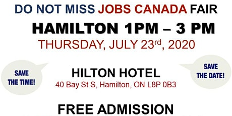 Hamilton Job Fair –   July 23rd, 2020 tickets