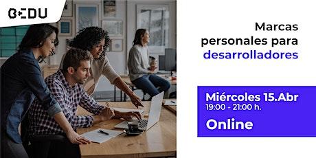 Marcas personales para desarrolladores/Sesiones en vivo. entradas